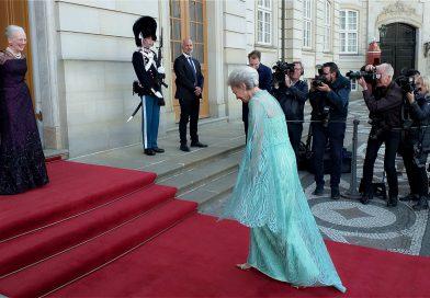 H.M. Dronningen af Danmark modtager H.K.H. Prinsesse Benediktes 75-aars foedselsdag