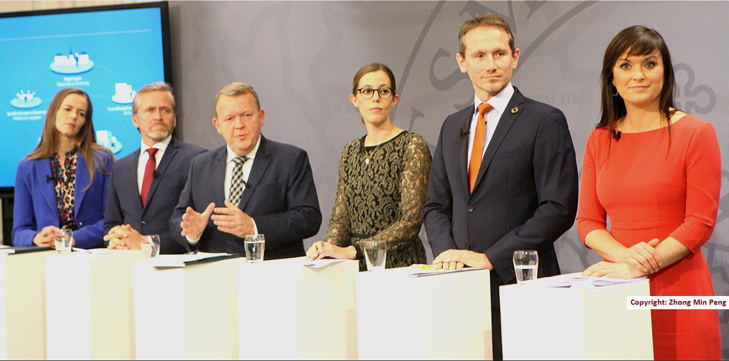Statsminister Lars Loekke Rasmussen med fem ministre