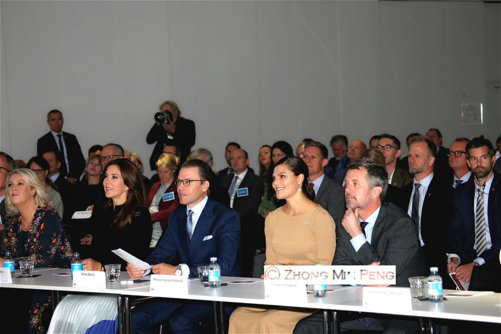 Swedish and danish royalcouple pays attention at Business Forum