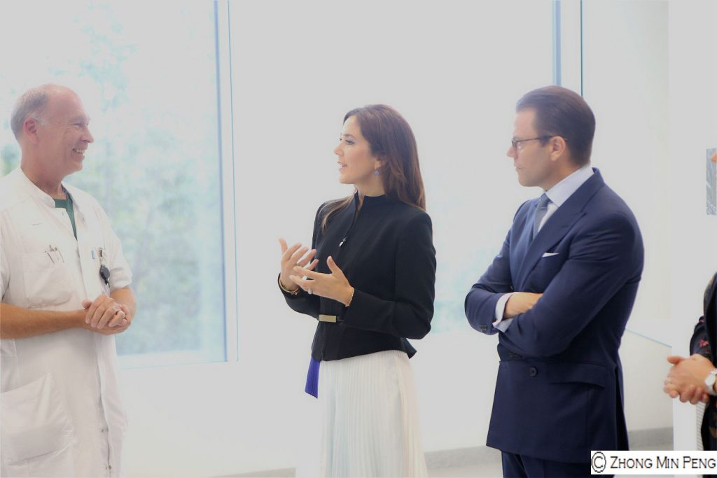 Their Royal Highnesses Crownprincess Mary and Prince Daniel converse