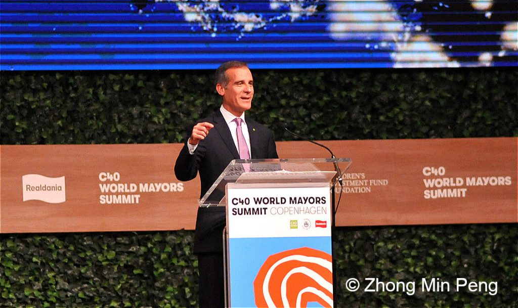 9 Mayor Eric Garcetti was elected Chair of the C40 Cities Climate Leadership