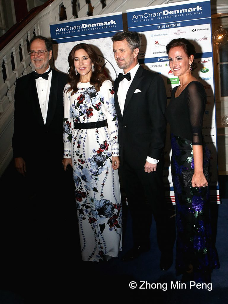 AmCham Executive Director Stephen Brugger and The Crown Prince and Princess of Denmark