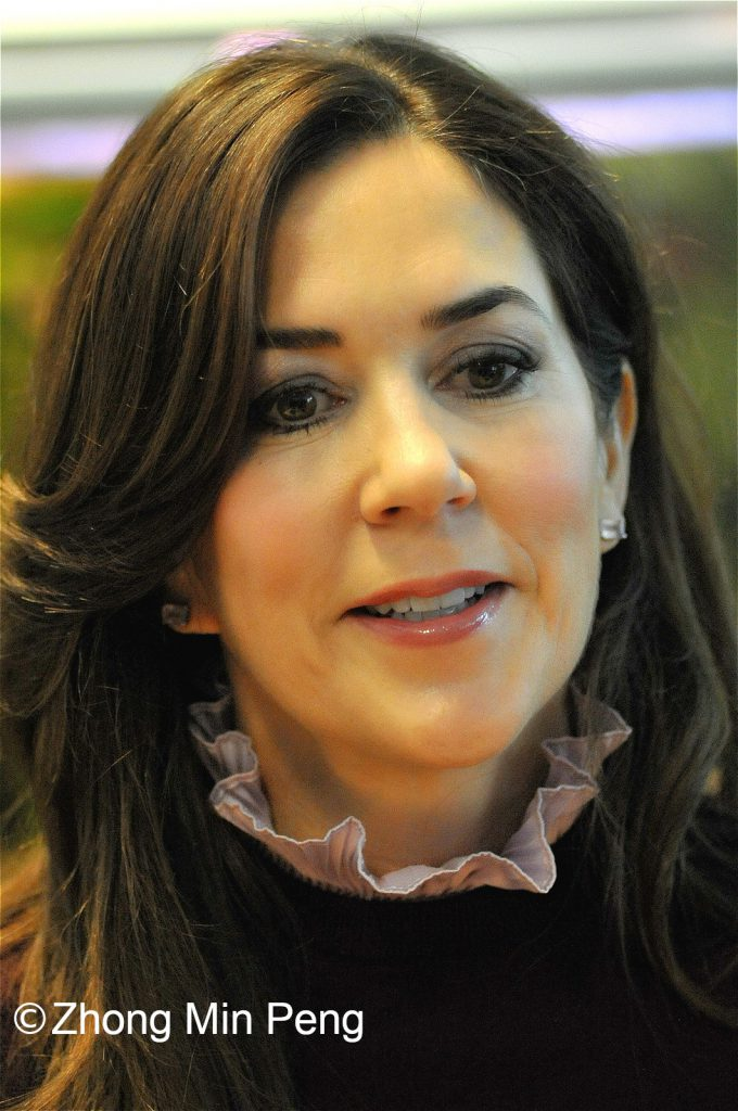 Crownprincess Mary of Denmark closed in on face