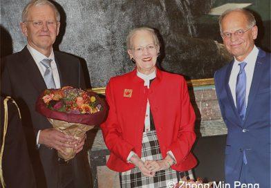 Karl Anker Joergensen, the Queen of Denmark and President Mogens Hoegh Jensen