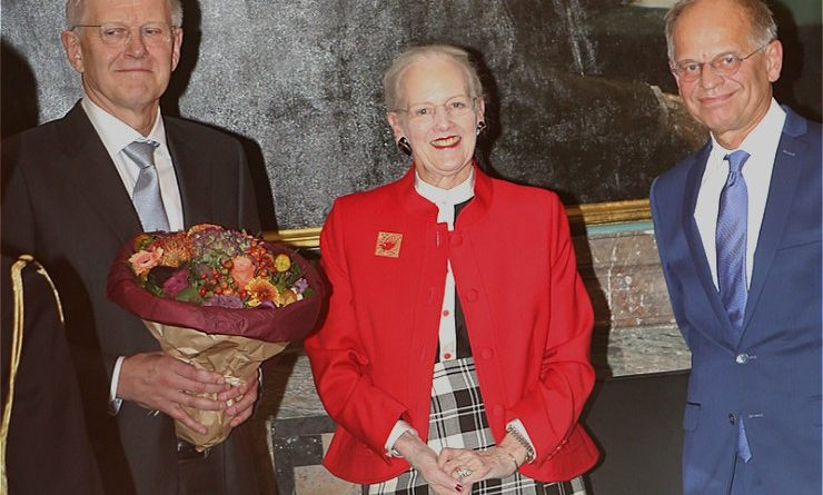 Karl Anker Joergensen, the Queen of Denmark and President Mogens Hoegh Jensen