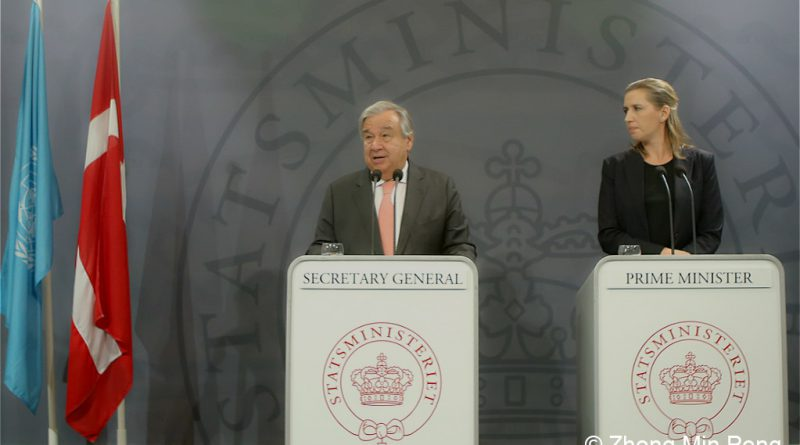 Presseconference with UN Secretary of General