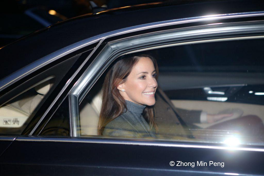 Prinsesse Marie forlader arrangementet i bil
