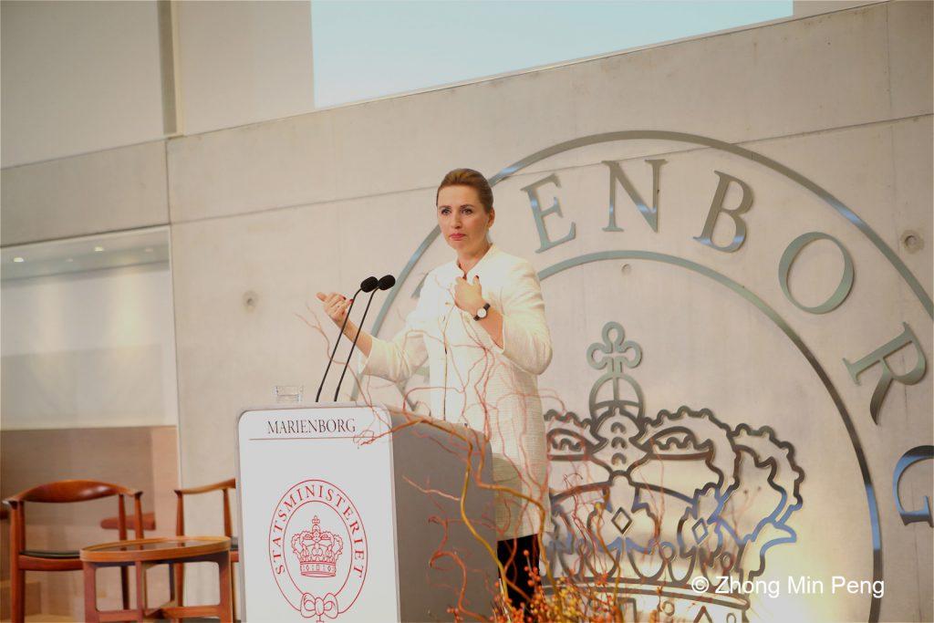 Statsminister Mette Frederiksen taler ved Marienborgmoede af Danmark