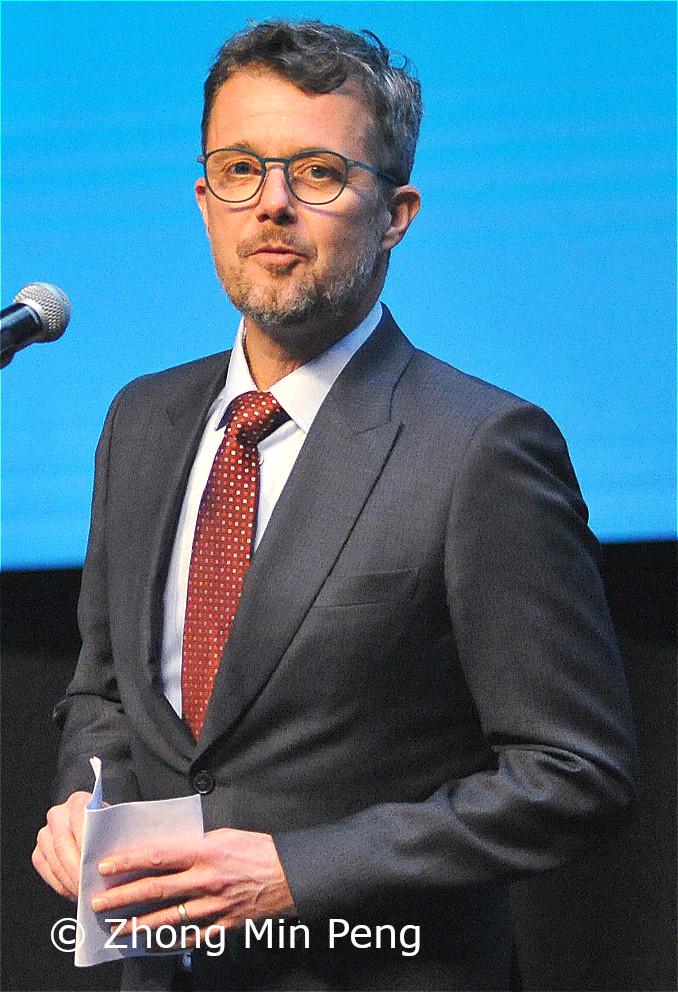 I forbindelse med prisuddelingen holdt Kronprinsen af Danmark en tale