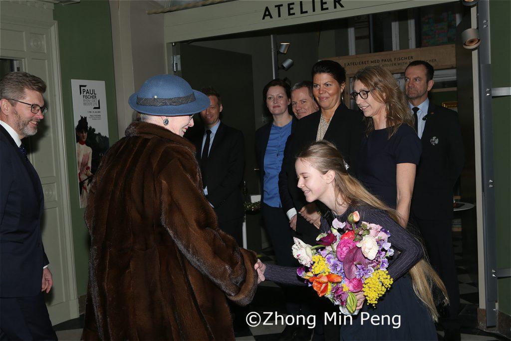 Dronningen blev modtaget af Kobenhavns overborgmester Frank Jensen