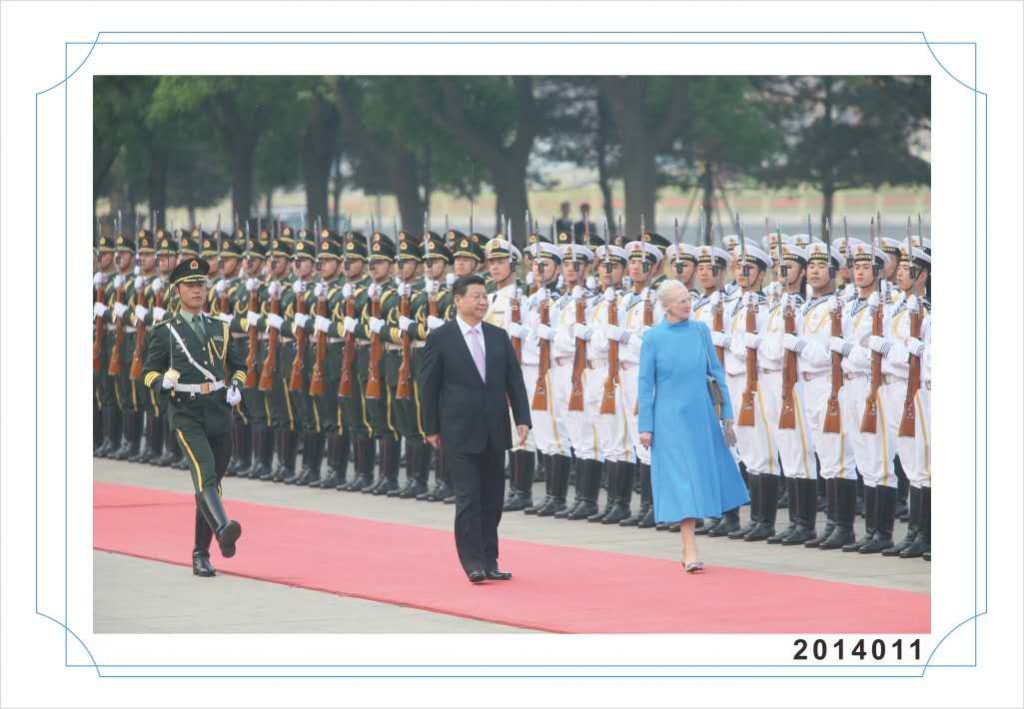 H. M. Dronningen besoegte Kina